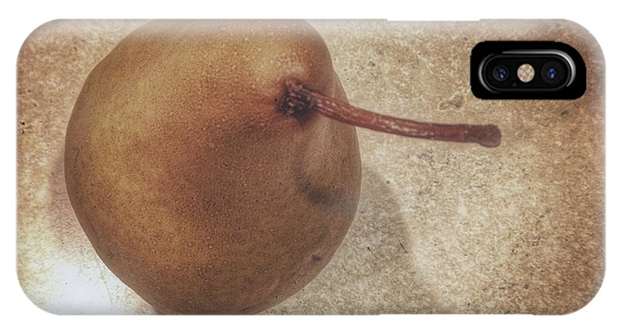 Pear IPhone X Case featuring the photograph Pearing by David Stone