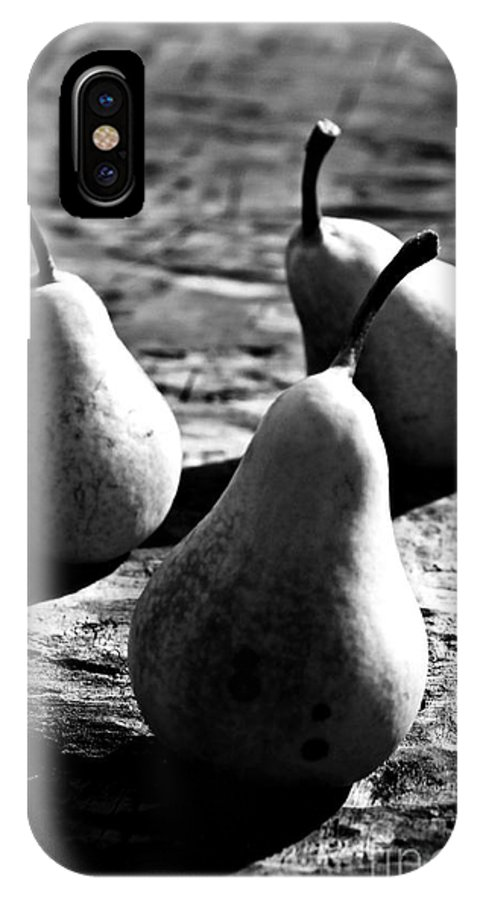 Pears IPhone X Case featuring the photograph Pears by Clare Bevan