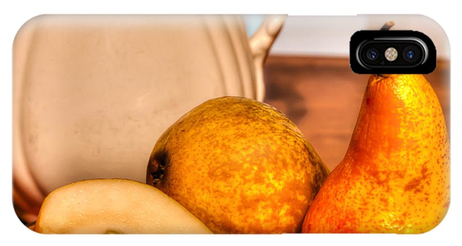 Pears IPhone X / XS Case featuring the photograph Pears by DeWayne Beard