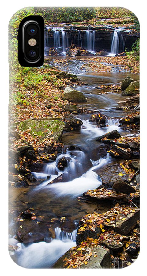 Pearson Falls IPhone X Case featuring the photograph Pearson Falls Blue Ridge Mountains North Carolina by Dawna Moore Photography
