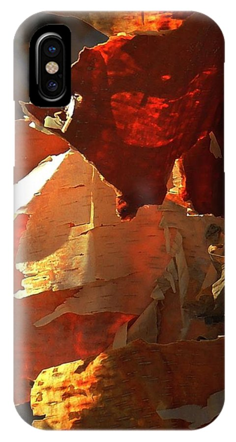 Abstract IPhone X Case featuring the photograph Peeling Off The Layers by Marcia Lee Jones