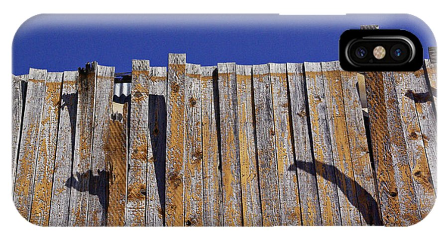 Peeling Planks IPhone X Case featuring the photograph Peeling Planks by Gary Richards