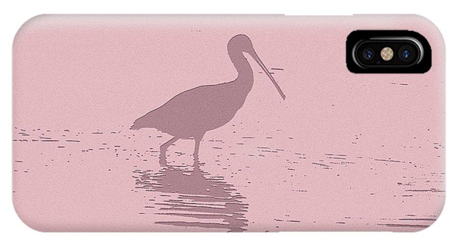 Pelican IPhone X Case featuring the digital art Pelican by Ronald Jansen