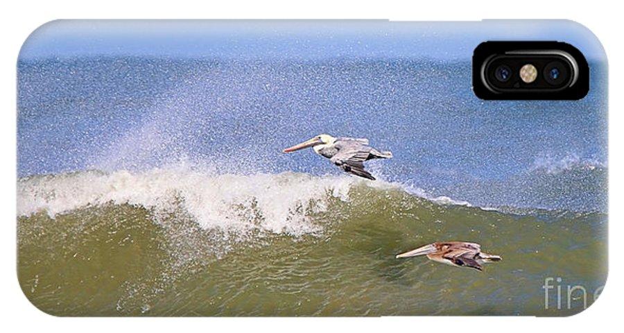 Pelicans IPhone X Case featuring the photograph Pelicans 3868 by Jack Schultz