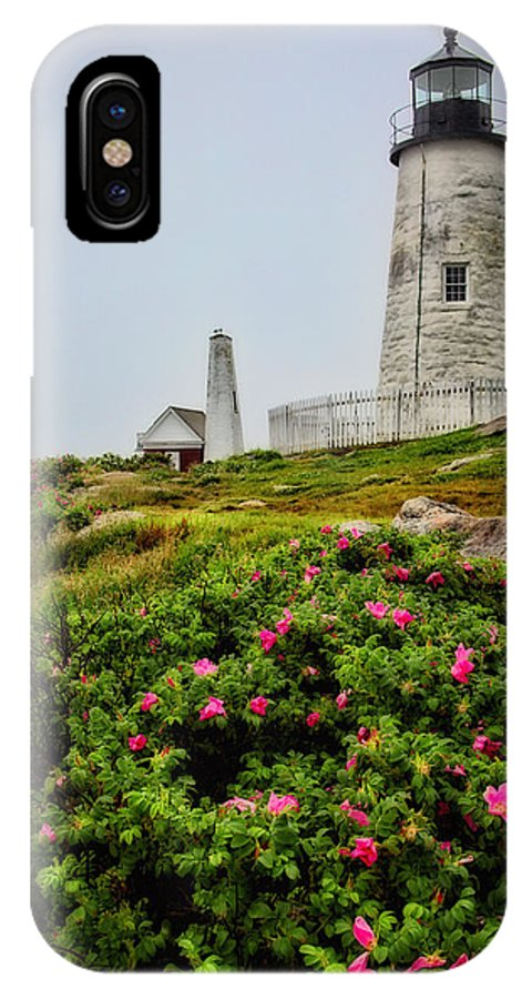 Lighthouse IPhone X Case featuring the photograph Pemaquid Point by Karol Livote