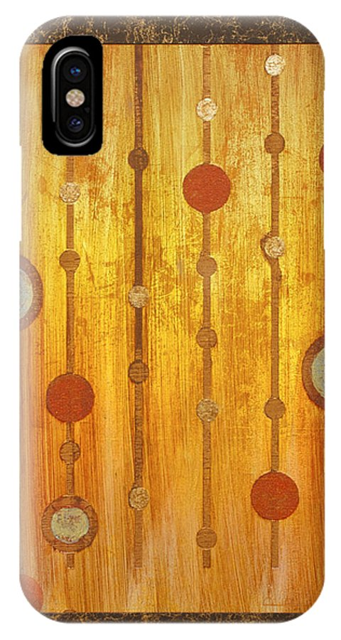 Framed IPhone X Case featuring the painting Pendulus by Debra Lindley Butler