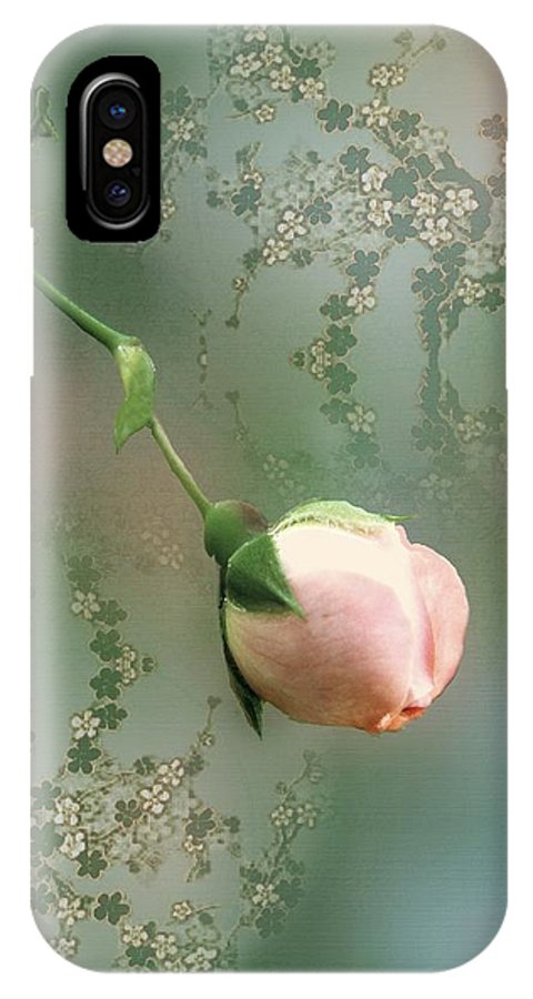 Rose IPhone X Case featuring the painting Penny Postcard Chinoiserie by RC DeWinter