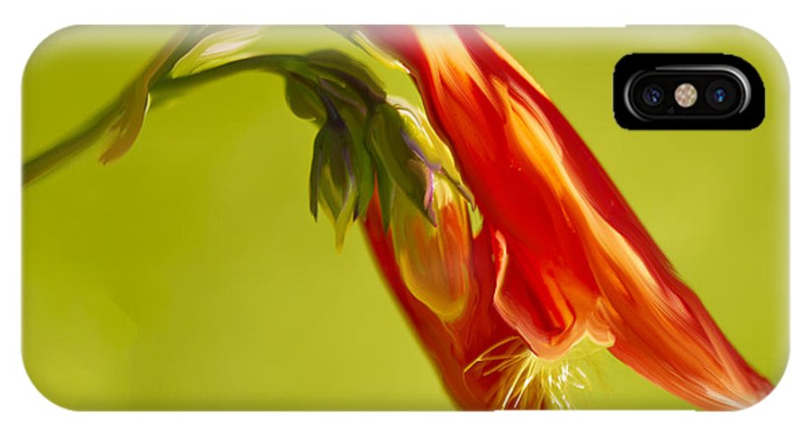 Penstemon IPhone X Case featuring the painting Penstemon by Angela Stanton