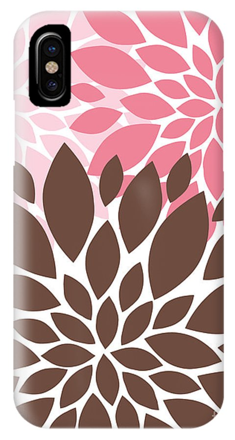 Peony IPhone X Case featuring the digital art Peony Flowers 007 by Voros Edit