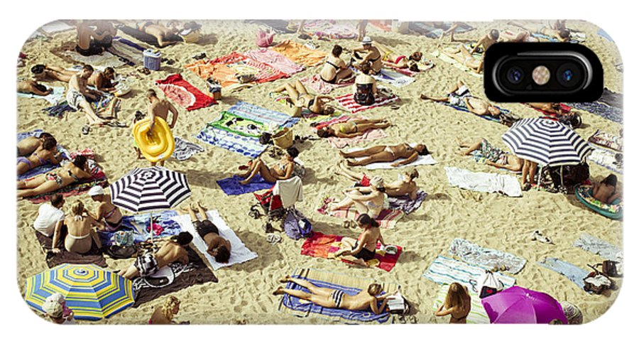 Beach IPhone X Case featuring the photograph People In The Beach by Alejandra Pinango