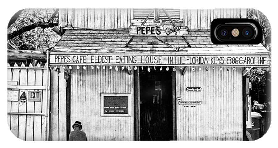 Americana IPhone X Case featuring the photograph Pepes Cafe by Robert FERD Frank