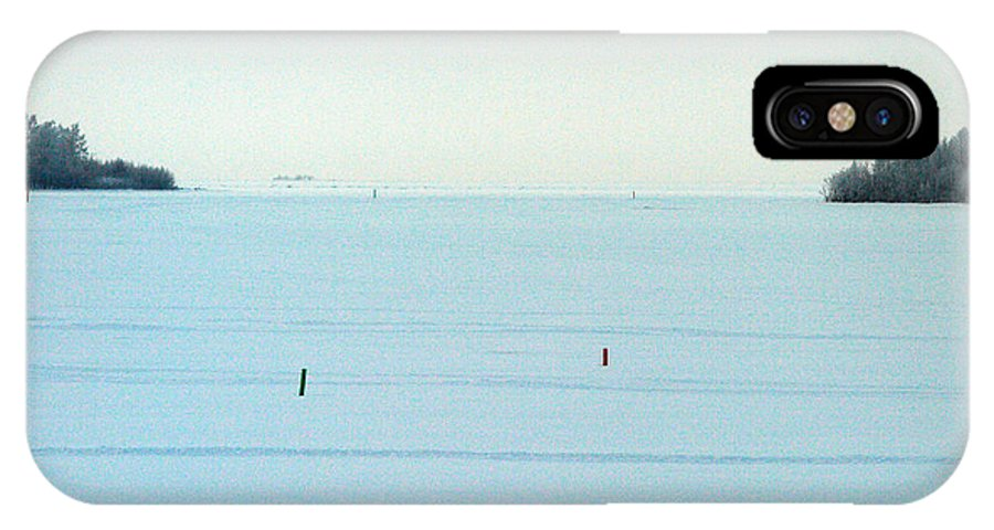 Finland IPhone X Case featuring the photograph Perameri Winterscapes The Sea Line by Jouko Lehto