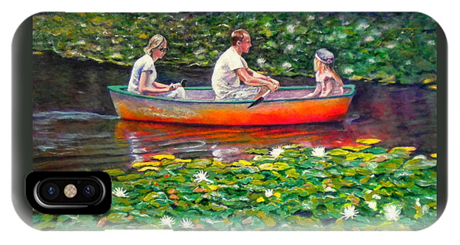 Water Lily IPhone X Case featuring the painting Perfect Afternoon by Michael Durst