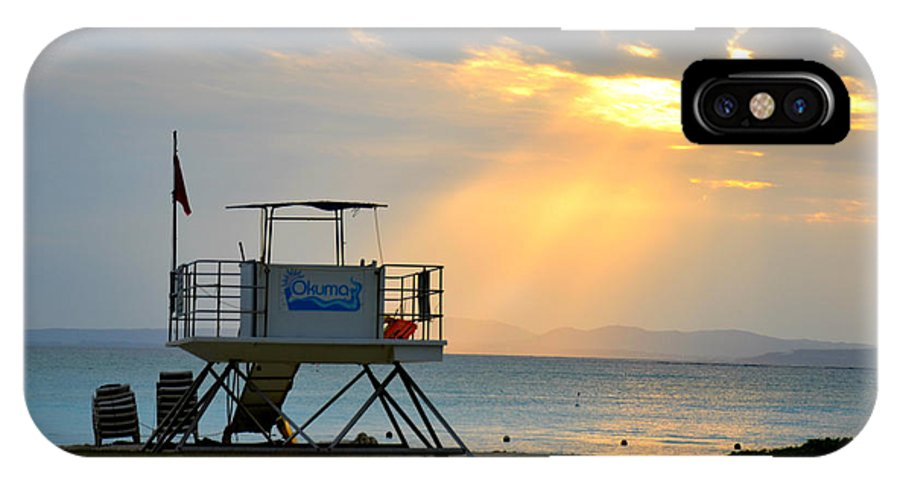 Lifeguard Tower IPhone X / XS Case featuring the photograph Perfect Ending by Jamie Blocker