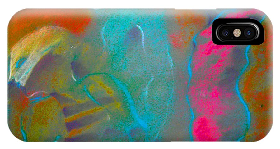 Actors IPhone X Case featuring the pastel Performance by Josie Taglienti