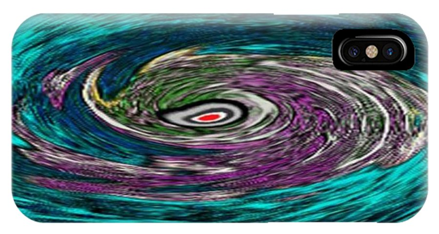 Abstract IPhone X Case featuring the digital art Perpetuum Motion. The End Is Always Beginning Of by Dr Loifer Vladimir