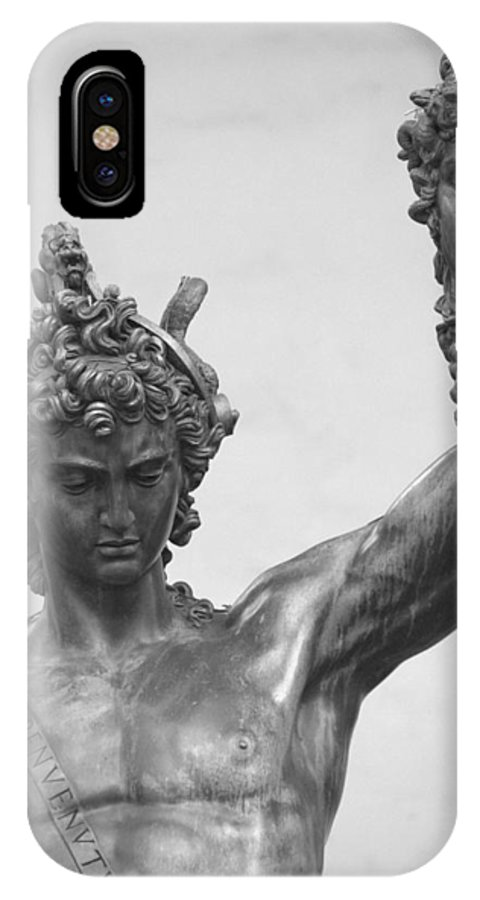 Florence IPhone X Case featuring the photograph Perseus With Head Of Medusa by Caroline Stella