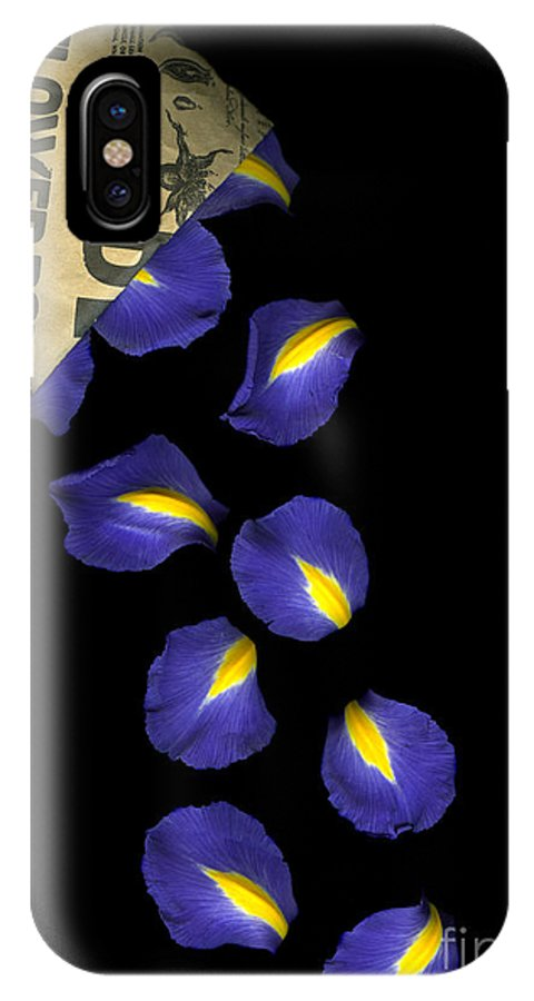 Scanography IPhone Case featuring the photograph Petal Chips by Christian Slanec