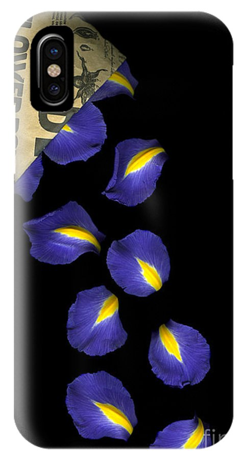Scanography IPhone X Case featuring the photograph Petal Chips by Christian Slanec