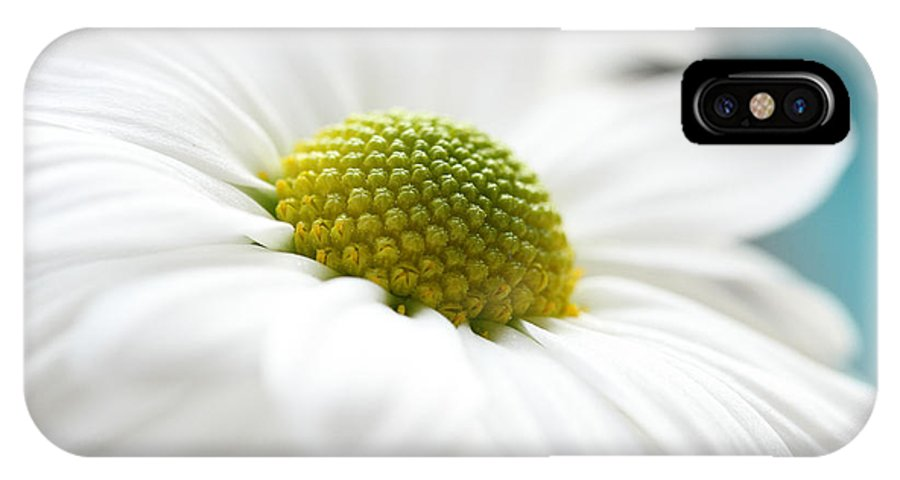 Chrysanthemum IPhone X Case featuring the photograph Petal Froth by Connie Handscomb
