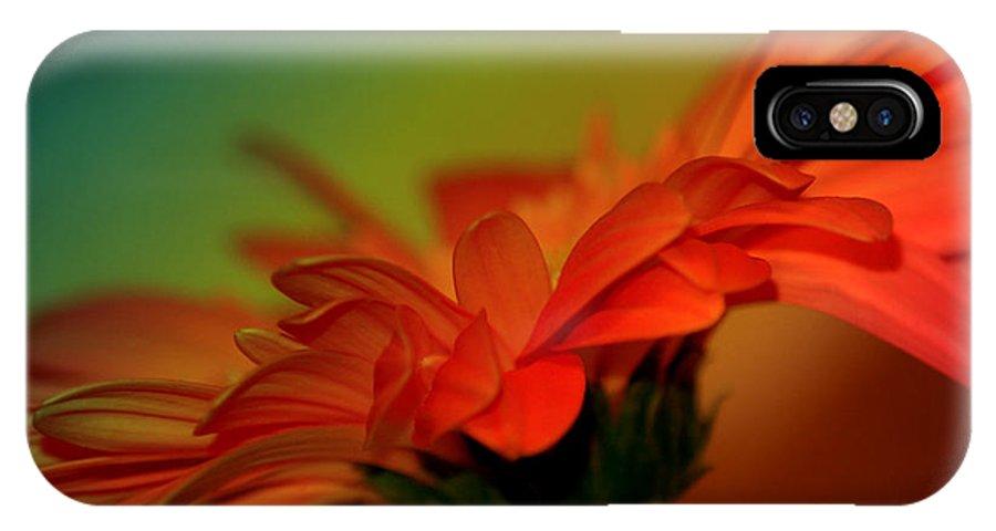 Flower IPhone X Case featuring the digital art Petals by Deena Otterstetter