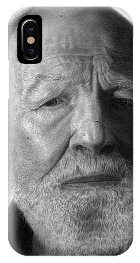 Singer IPhone X Case featuring the drawing Pete Seeger by Marvin Lee