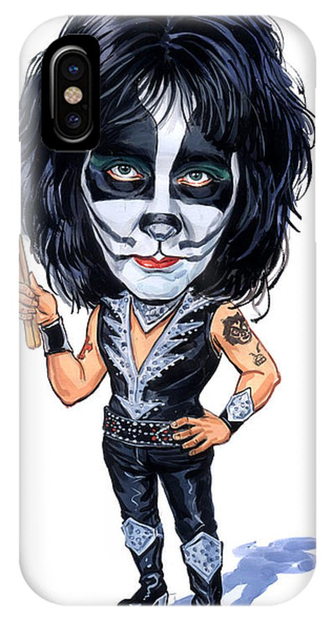 Peter Criss IPhone X Case featuring the painting Peter Criss by Art