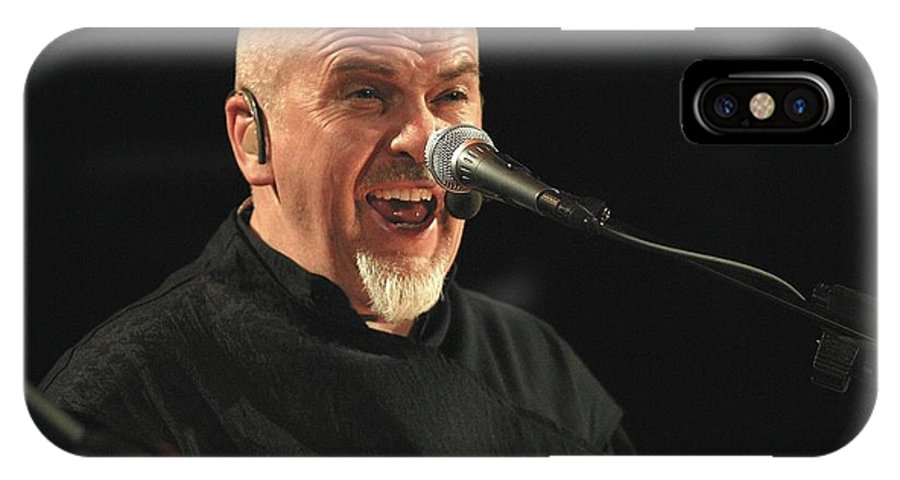 Flautist IPhone X Case featuring the photograph Peter Gabriel by Concert Photos