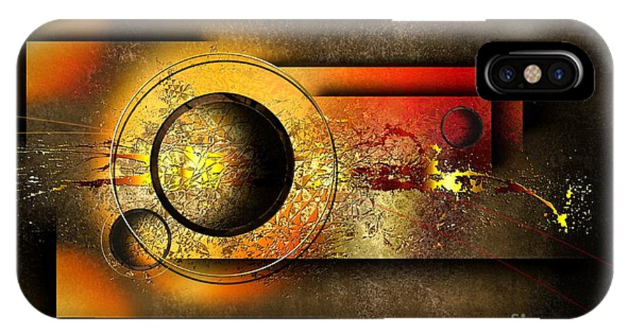 In The Abstract IPhone X Case featuring the digital art Petit Espoir Lumineux by Franziskus Pfleghart