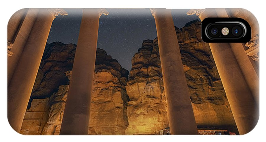 Petra IPhone X Case featuring the photograph Petra Inside The Temple by Jimmy McIntyre