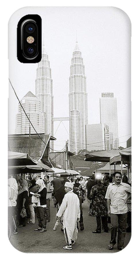 Kampung Baru IPhone X Case featuring the photograph Petronas Over Kampung Baru by Shaun Higson