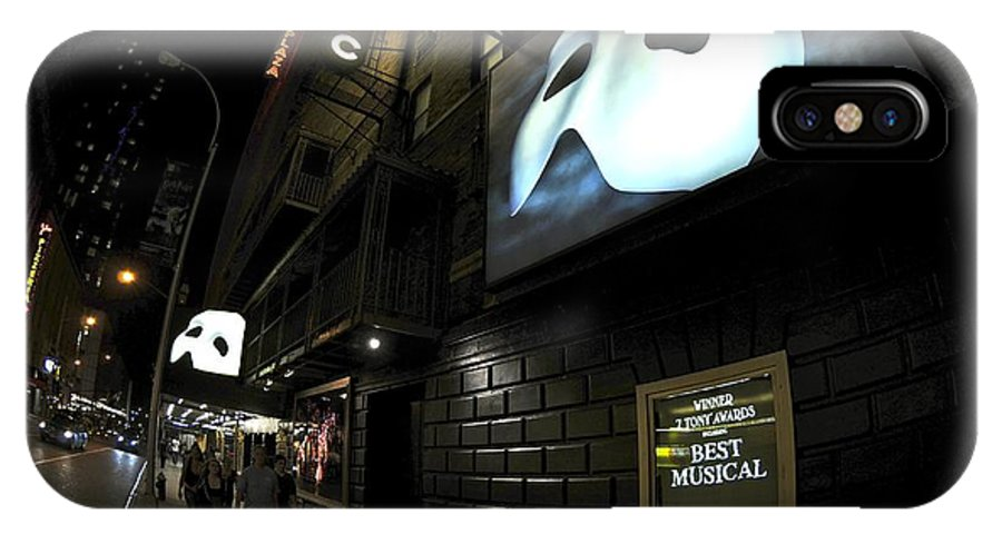Mask IPhone X Case featuring the digital art Phantom by Leland Lewis