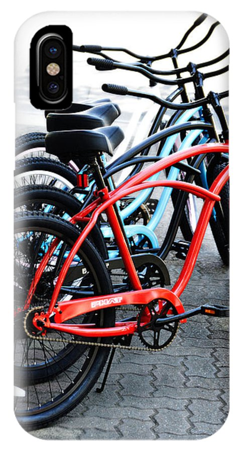 Bike IPhone X Case featuring the photograph Phat Bikes by Holly Blunkall