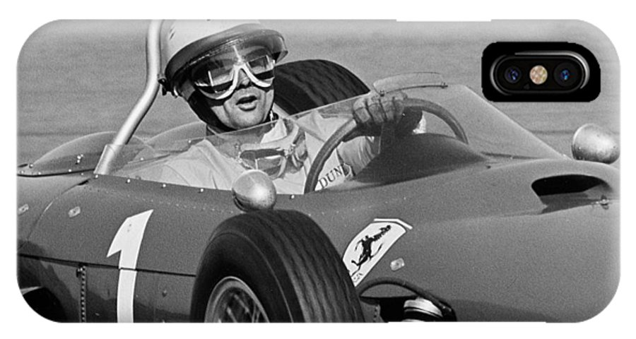 Phil Hill IPhone X Case featuring the photograph Phil Hill Ferrari Close Up by Robert Van Es