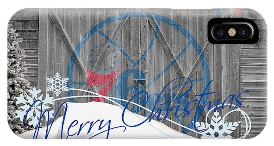 76ers IPhone X Case featuring the photograph Philadelphia 76ers by Joe Hamilton