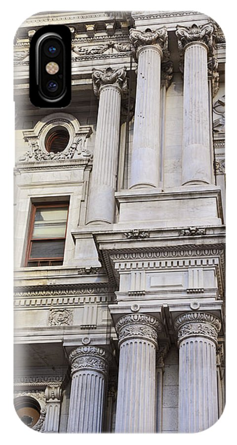 Philadelphia IPhone X Case featuring the photograph Philadelphia Architecture 2 by David Lunde