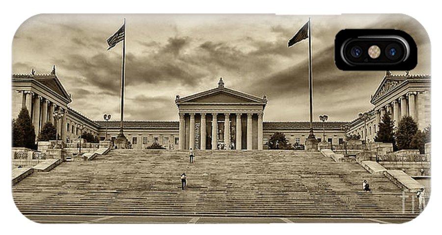 Philadelphia Art Museum IPhone X Case featuring the photograph Philadelphia Art Museum 4 by Jack Paolini