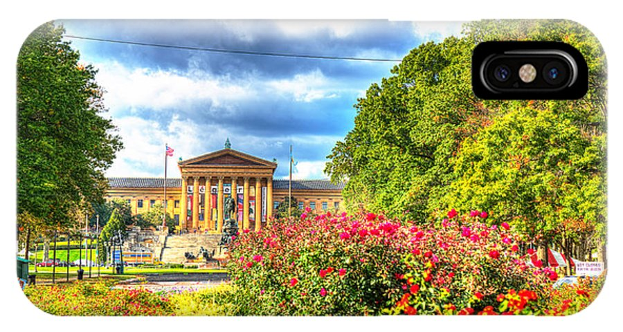 Philadelphia IPhone X Case featuring the photograph Philadelphia Art Museum 5 by Constantin Raducan