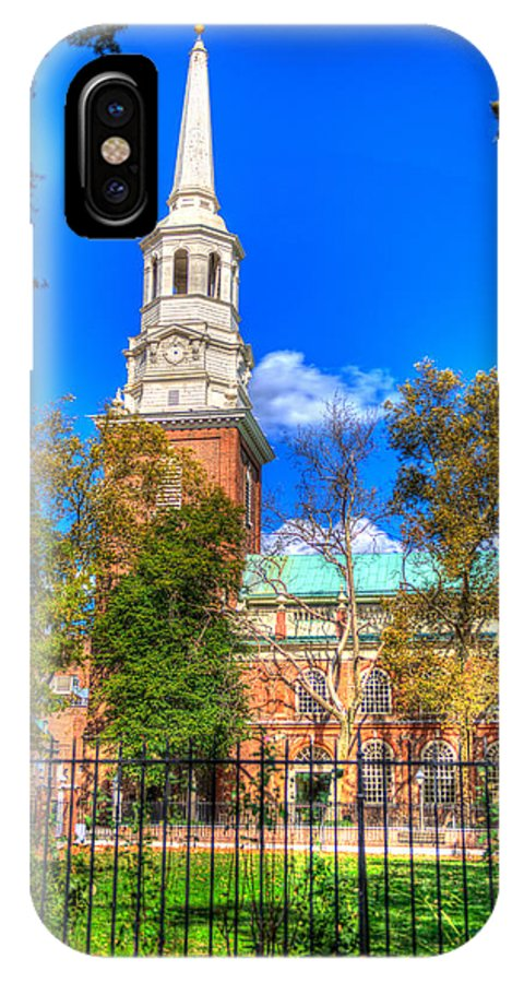 Philadelphia IPhone X Case featuring the photograph Philadelphia Christ Church 2 by Constantin Raducan