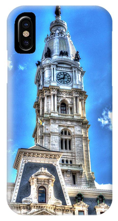 Philadelphia IPhone X Case featuring the photograph Philadelphia City Hall 1 by Constantin Raducan