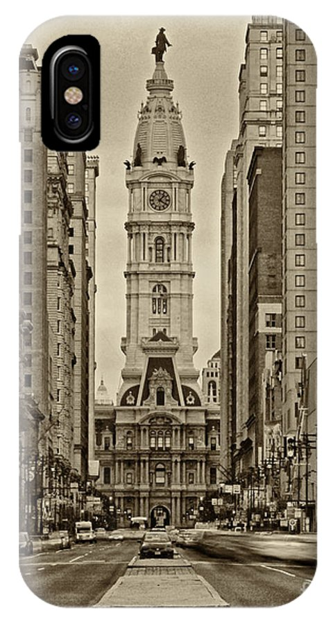 Philadelphia IPhone X Case featuring the photograph Philadelphia City Hall 2 by Jack Paolini