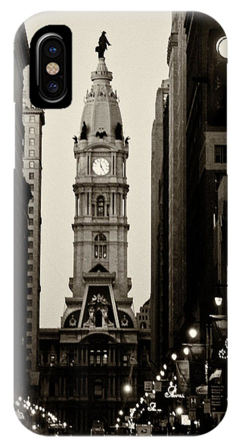 City Hall IPhone X Case featuring the photograph Philadelphia City Hall by Louis Dallara