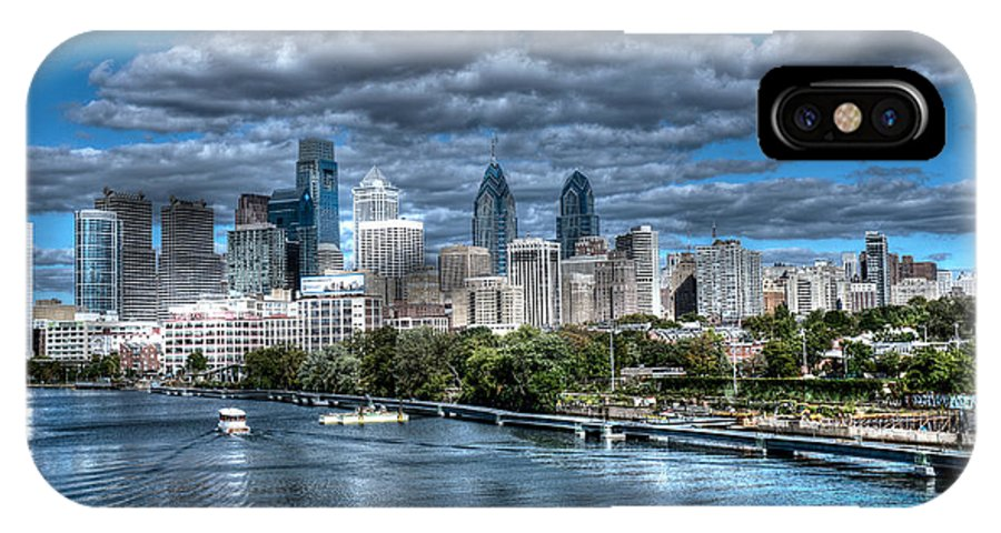Philadelphia Cityscape IPhone X Case featuring the photograph Philadelphia Cityscape 1 by Constantin Raducan