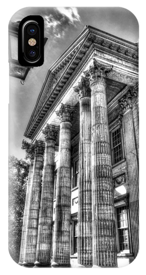 Philadelphia IPhone X Case featuring the photograph Philadelphia First Bank 2 Bw by Constantin Raducan