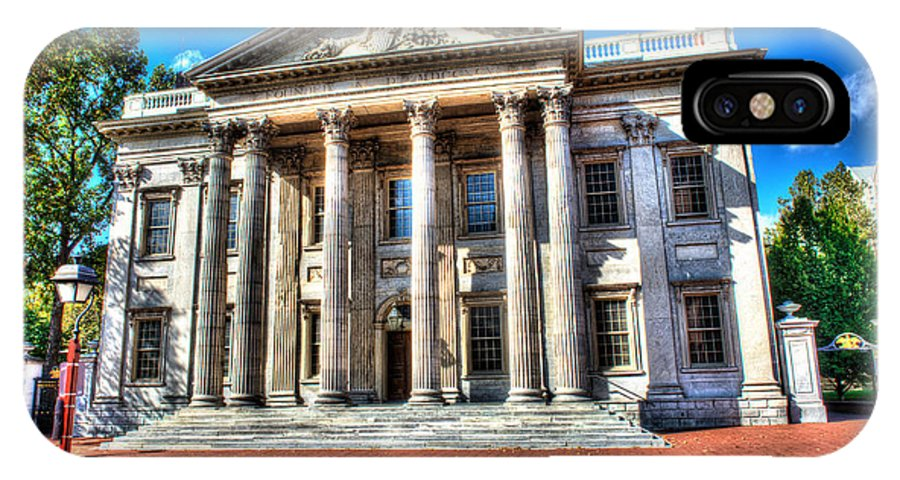 Philadelphia IPhone X Case featuring the photograph Philadelphia First Bank by Constantin Raducan