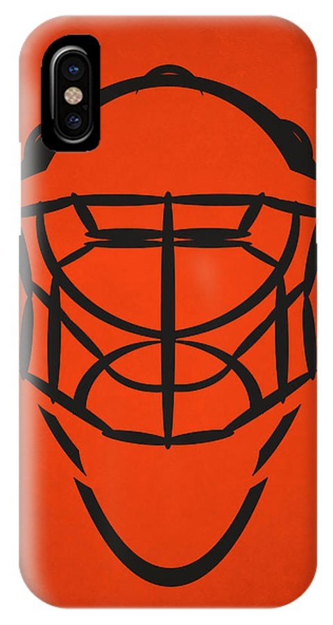 Flyers IPhone X Case featuring the photograph Philadelphia Flyers Goalie Mask by Joe Hamilton