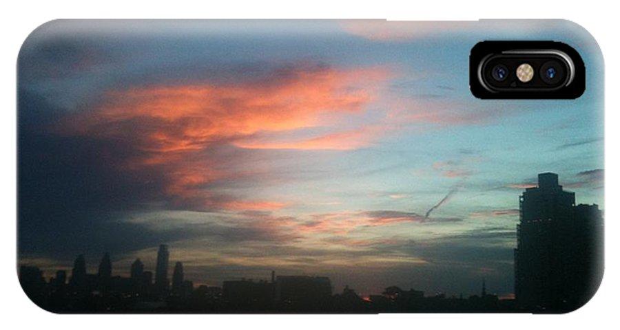 Philadelphia IPhone X Case featuring the photograph Philadelphia by Sheila Mashaw