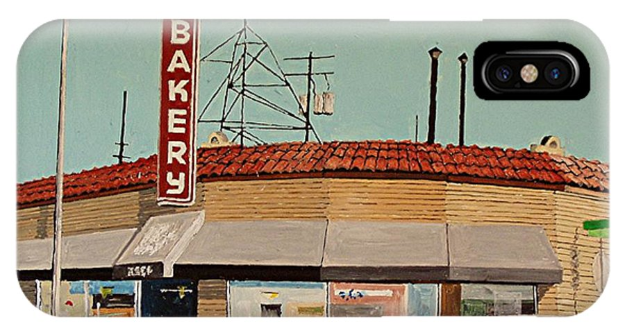Philipp's Bakery IPhone X Case featuring the painting Philipp's Bakery No. 2 by Paul Guyer