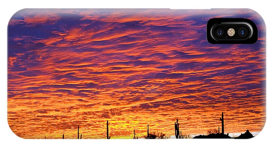 Phoenix IPhone X Case featuring the photograph Phoenix Sunrise by Jill Reger