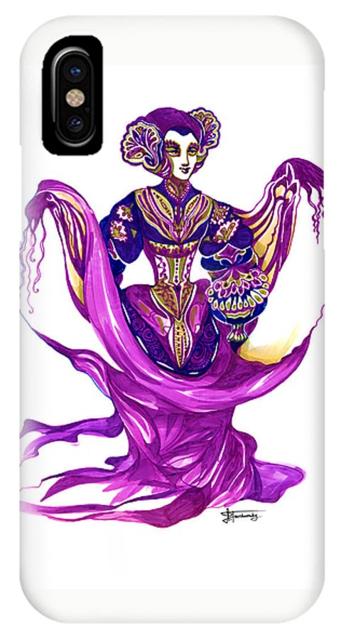 Fantasy IPhone X Case featuring the painting Piano Concerto 7 - W.a. Mozart by Ilana Tavshunsky